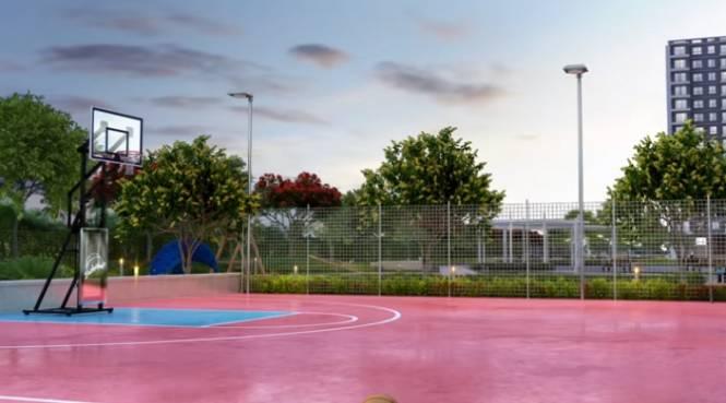 aqua Basketball Court