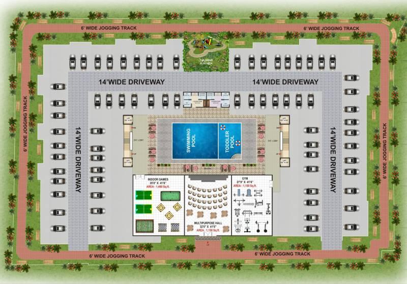 Images for Site Plan of V K Krishna Gardenia