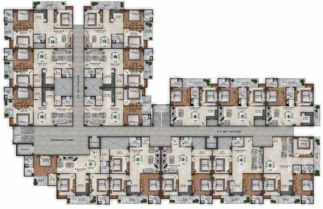 Images for Cluster Plan of Shri Balaji BCC Sapphire