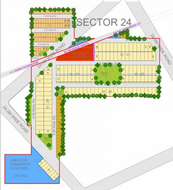 Images for Layout Plan of Ansal Anand Lok