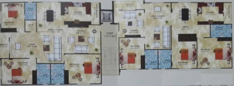 Images for Cluster Plan of Citizen Kapur Towers