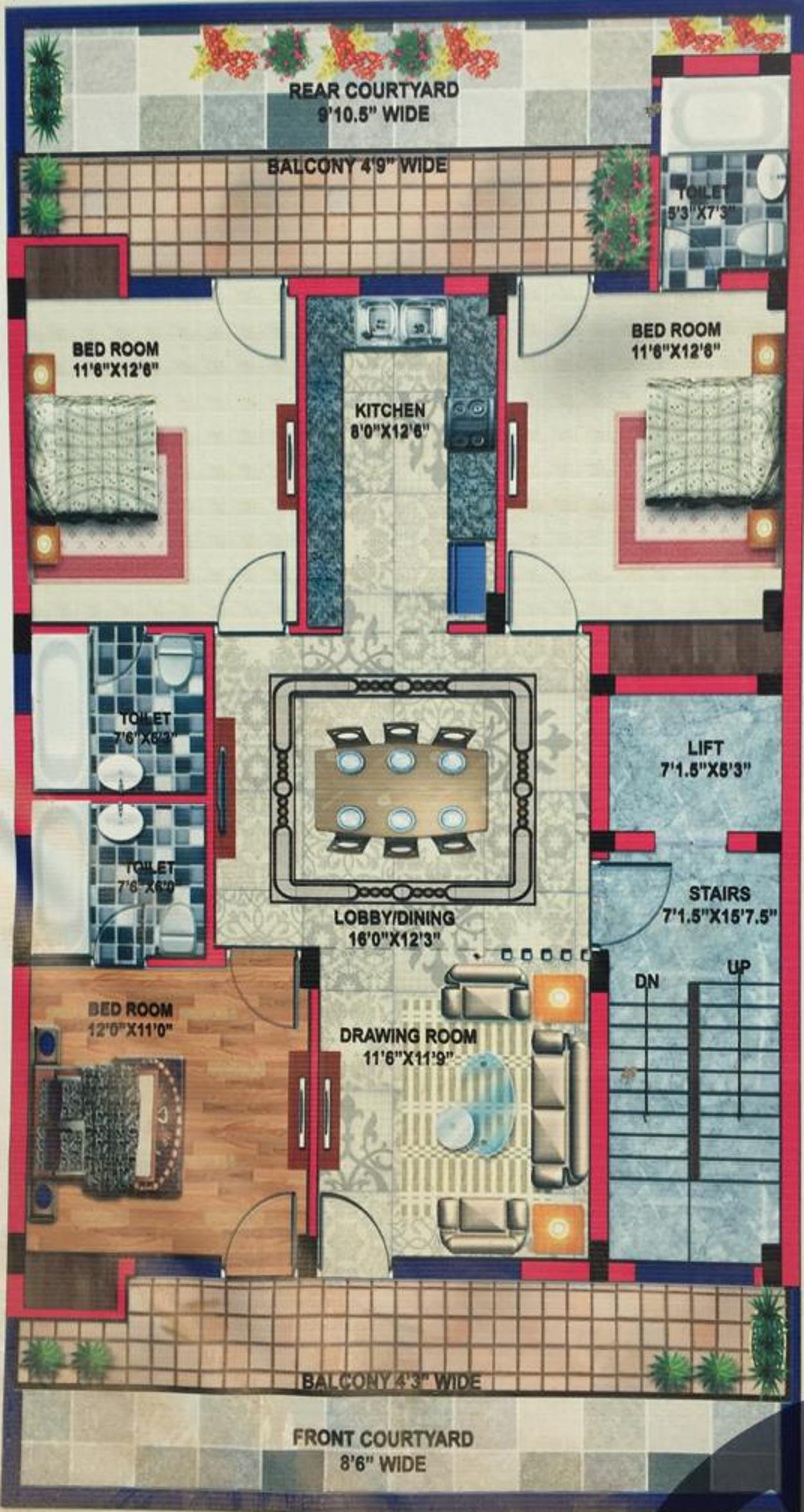Lord Krishna Royal Floors 4 in Sector