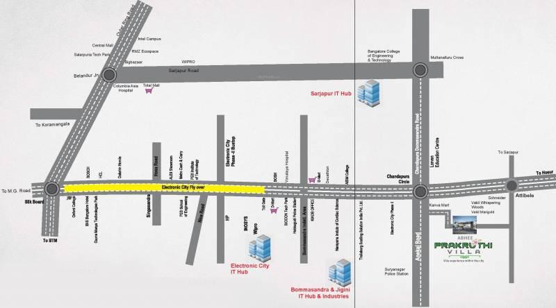 Images for Location Plan of Abhee Prakruthi Villa