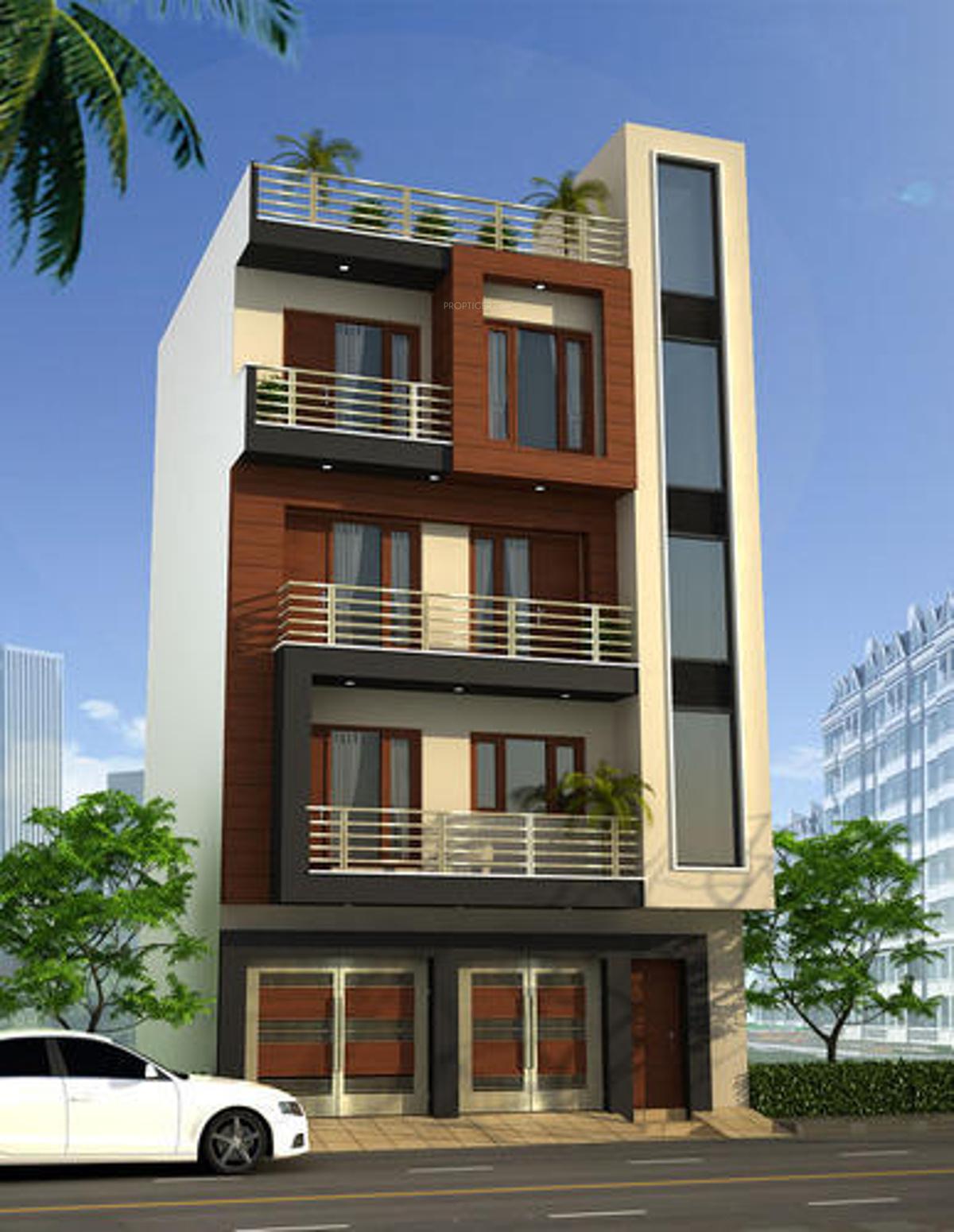 450 sq ft 2 bhk 2t apartment for sale in pradeep mehta - 3 storey building exterior design ...