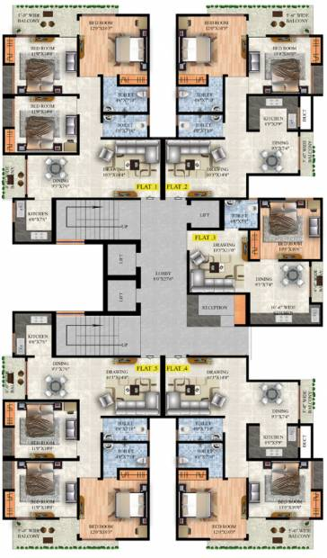 Images for Cluster Plan of Raunak Lifestyle