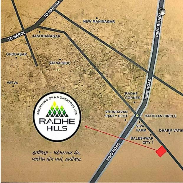 Images for Location Plan of Shubhmilan Radhe Hills