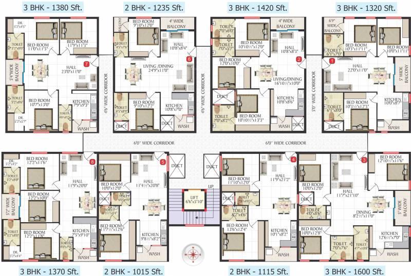 Images for Cluster Plan of Jai Bharathi Mansion