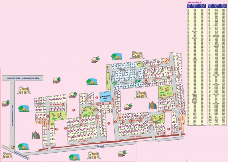 Images for Layout Plan of Wisdom Sri Sathya Sai Nagar Extension I