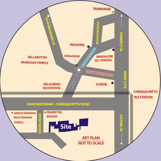 Images for Location Plan of Wisdom Sri Sathya Sai Nagar Extension I