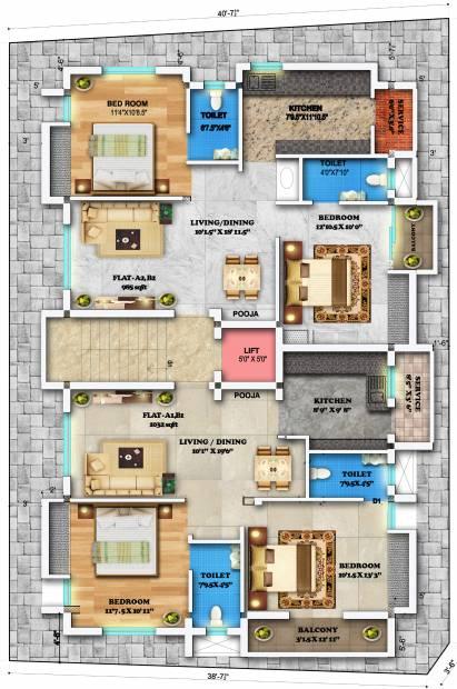 subadra-nivas Images for Cluster Plan of Sreenivas Subadra Nivas
