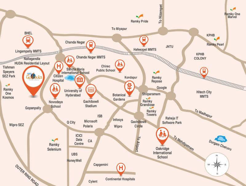 Images for Location Plan of Ramky One Galaxia Phase II