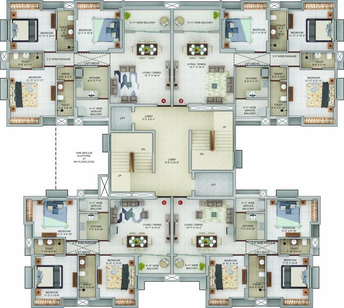 Images for Cluster Plan of Merlin Urvan