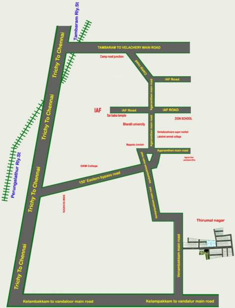 Images for Location Plan of Right Choice S P Thirumal Nagar