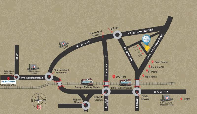 Images for Location Plan of Satyamev Highway Residency