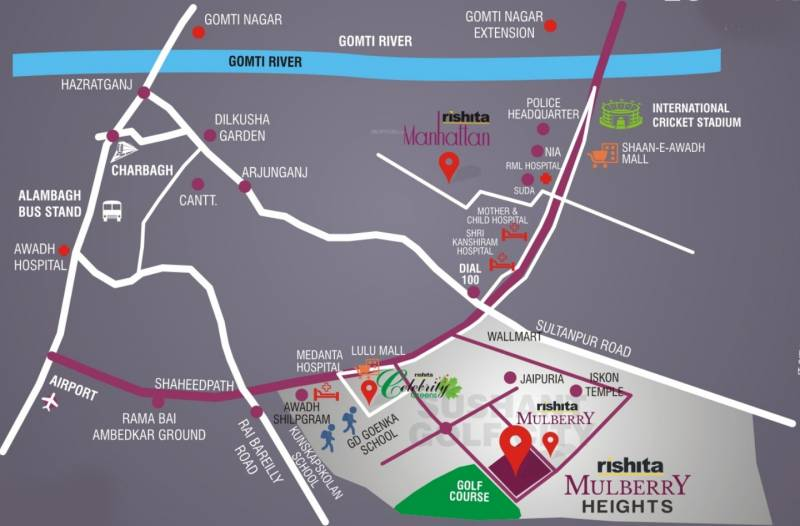 Images for Location Plan of Rishita Mulberry Heights Phase 1