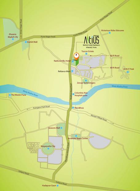 Images for Location Plan of Nirman Altius Wing B