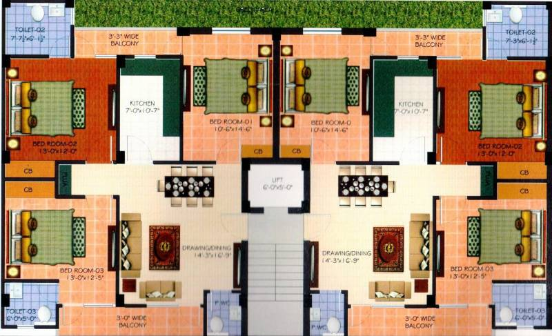 Images for Cluster Plan of Hunny Tani Homes