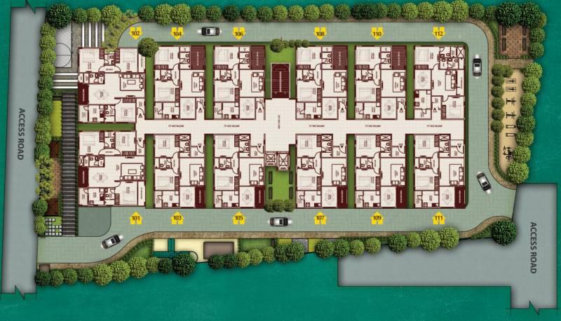 Images for Master Plan of R K Royal Palms