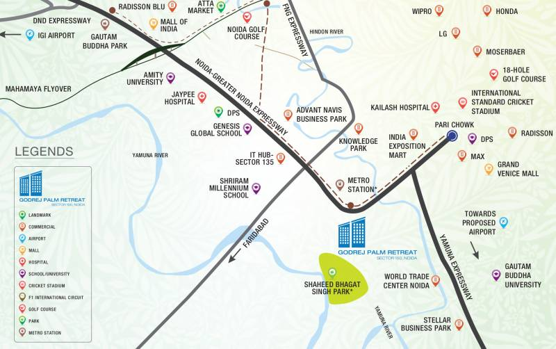 Images for Location Plan of Godrej Palm Retreat