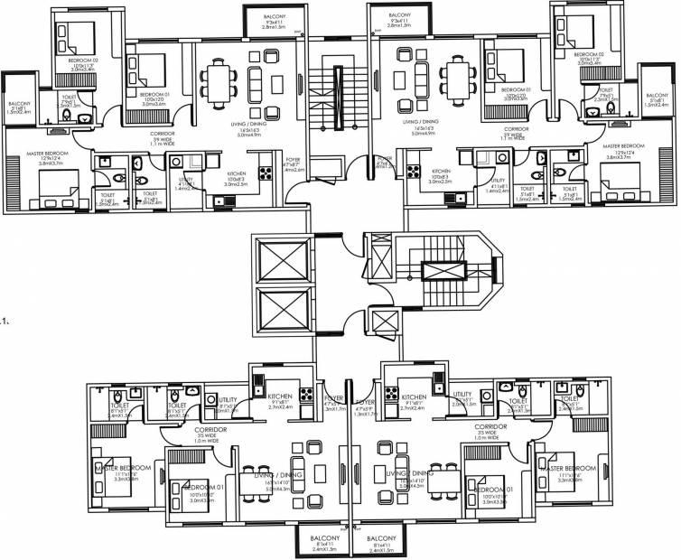 Images for Cluster Plan of Godrej Lake Gardens