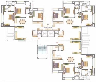 Plan Dressing En U cluster plan image - akshar corporation pramukh yog sub plot