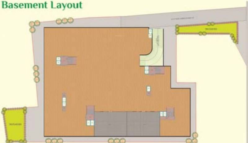 lotus-residency-2 Block A,B, C And D Cluster Plan For Basement Layout