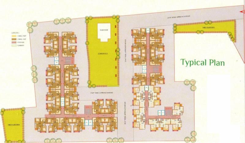 lotus-residency-2 Block A Cluster Plan For Typical Floor Plan