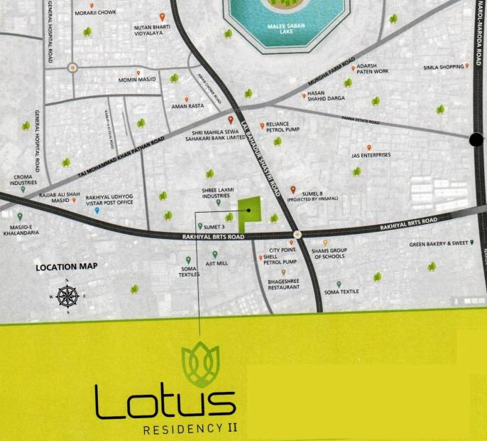 lotus-residency-2 Location Plan