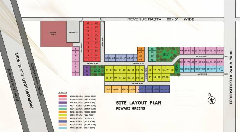 rewari-greens Layout Plan