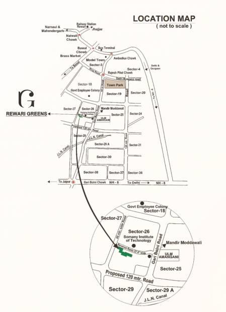 rewari-greens Location Plan