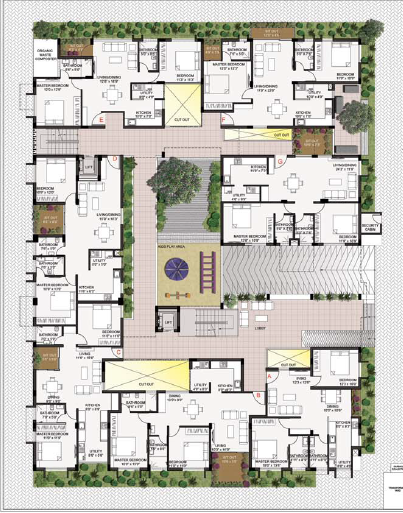 Images for Cluster Plan of Oxygen Build Courtyard