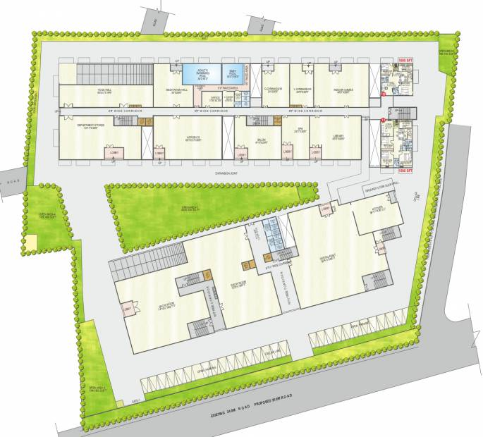 Images for Layout Plan of Abhiram Nirman Touchstone Towers
