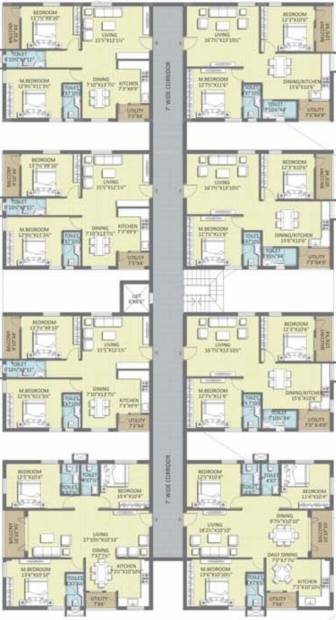 florence-village-phase-2 Typical Floor Plan  Of Block I