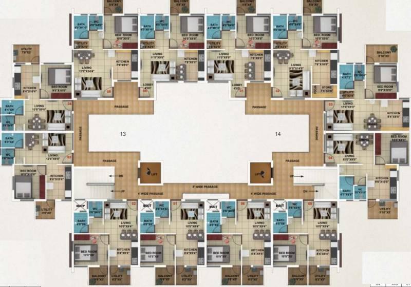 akshay-town Typical Floor Plan Of Type 2