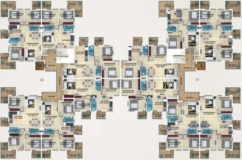 akshay-town Typical Floor Plan Of Type 7