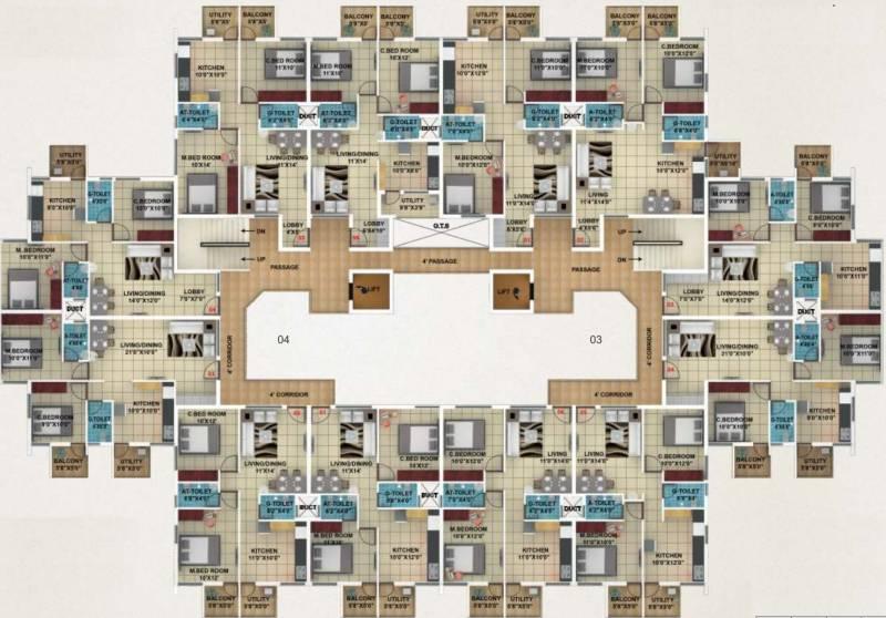 akshay-town Typical Floor Plan Of Type 6