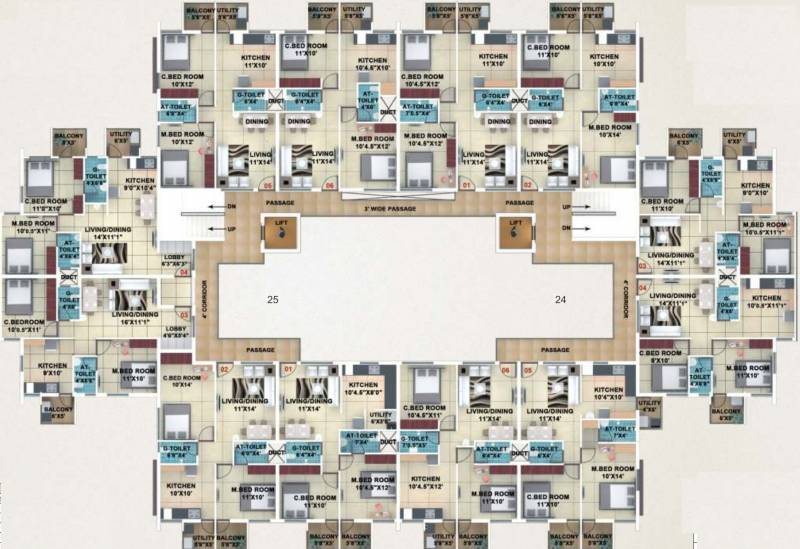 akshay-town Typical Floor Plan Of Type 3