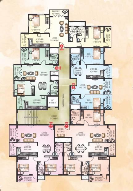 poonam-parijath Poonam Parijath Cluster Plan
