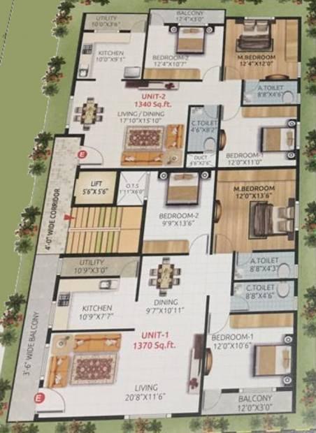 Images for Cluster Plan of Eswar Saitej Enclave