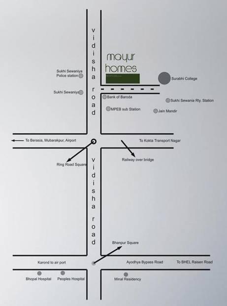 mayur-homes-villa Location Plan