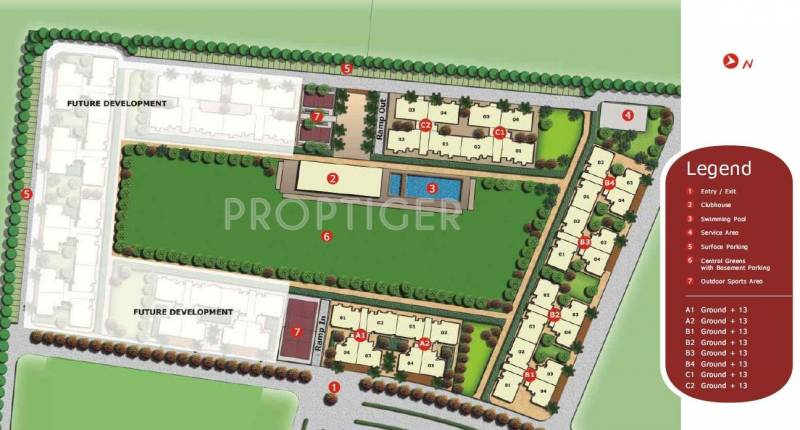Images for Site Plan of Unitech The Residences