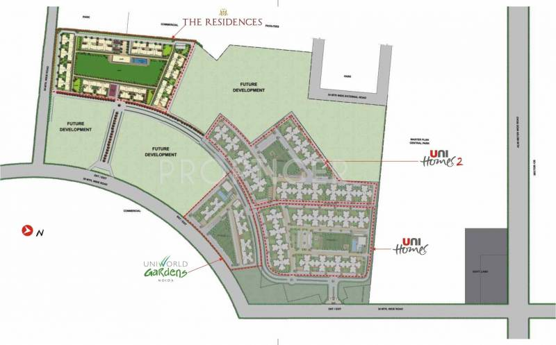 Images for Master Plan of Unitech The Residences