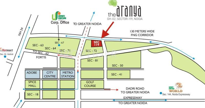 Images for Location Plan of Unnati The Aranya