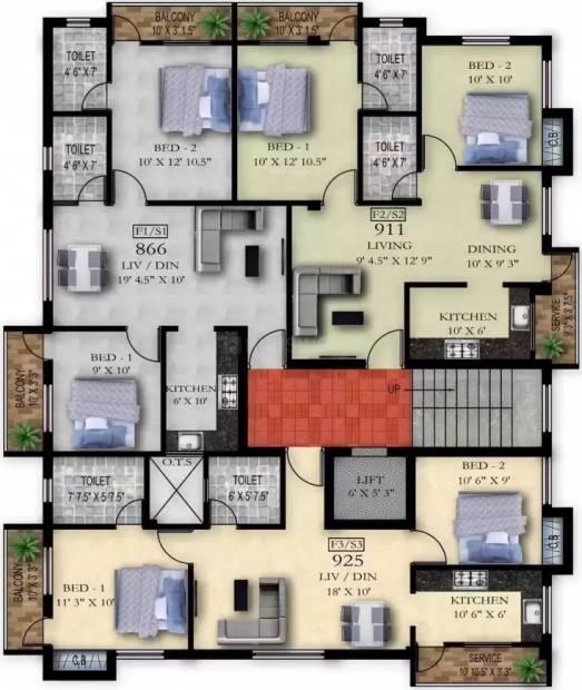 flats Cluster Plan