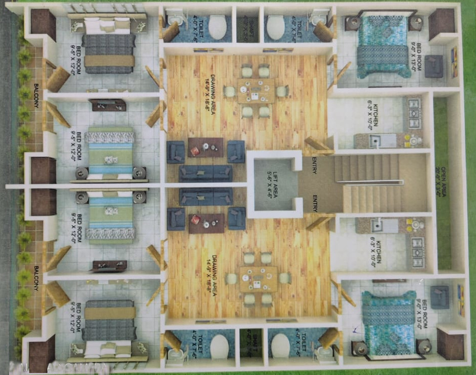 500 sq ft 2 bhk 2t apartment for sale in chauhan builders - 500 square foot apartment ...