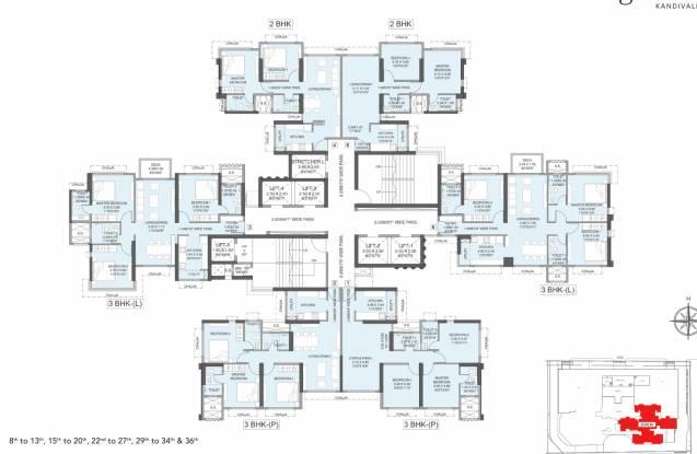 tw-gardens Cluster Plan