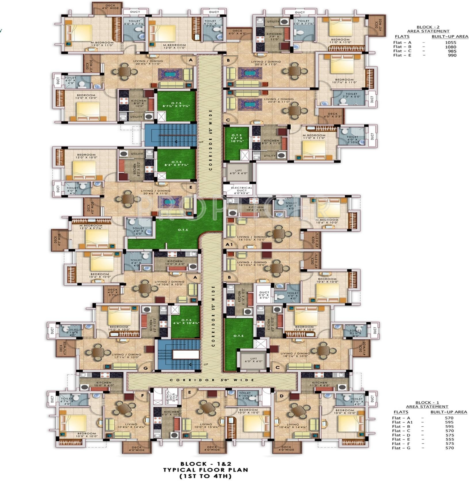 1705 sq ft 3 BHK 3T Apartment for Sale in Doshi Housing Nakshatra