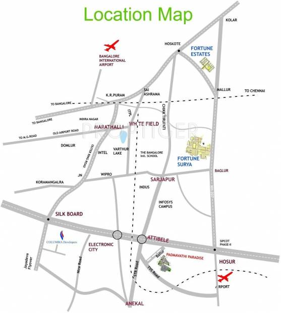 Images for Location Plan of Columbia Padmavathi Paradise