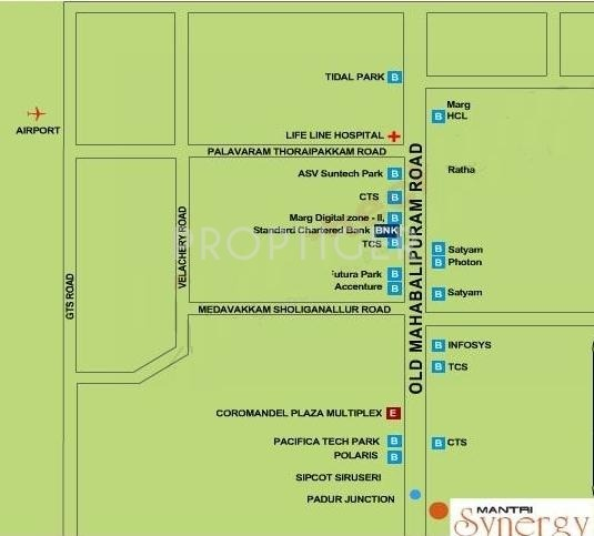 Images for Location Plan of Mantri Synergy 2