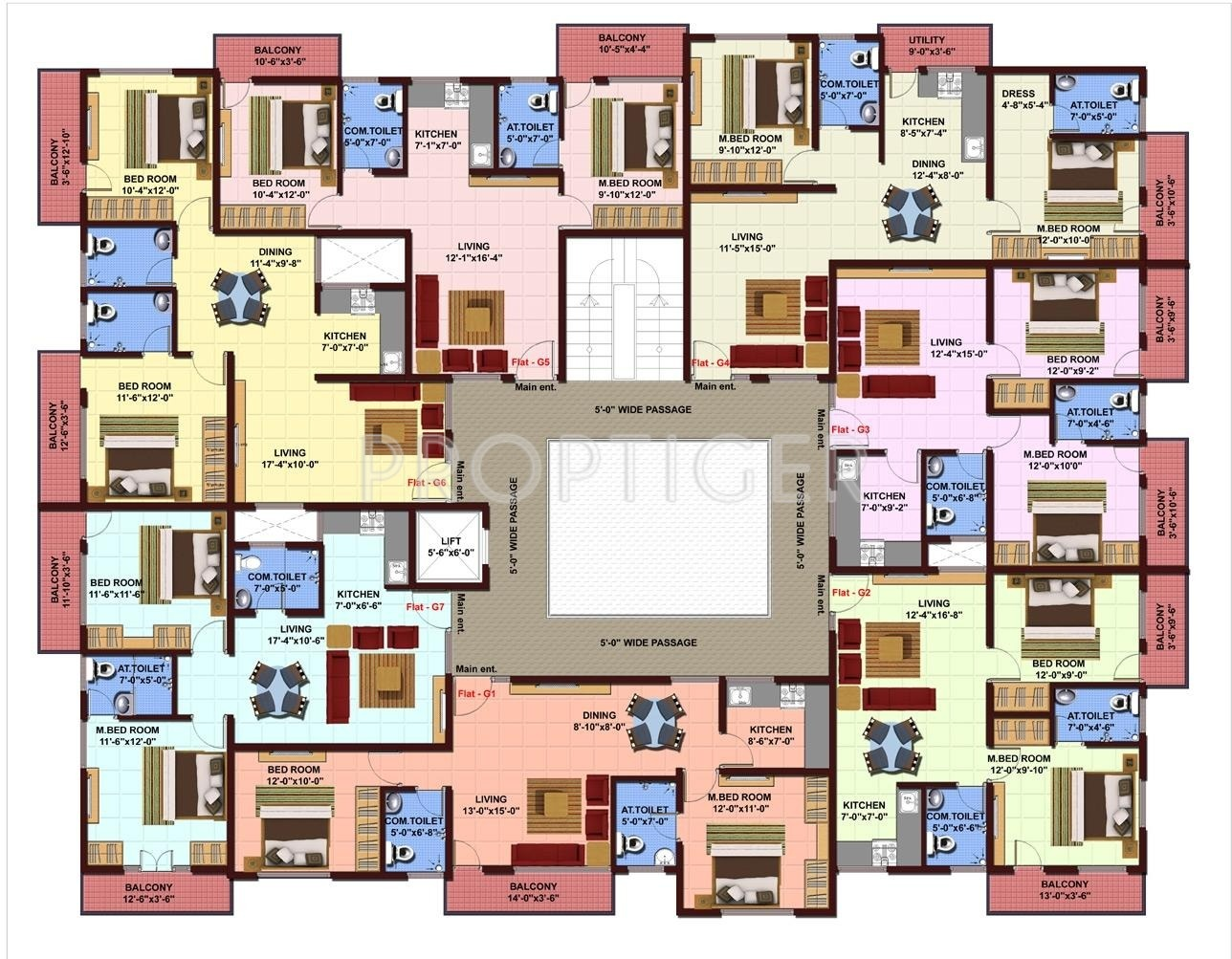 890 sq ft 2 bhk 2t apartment for sale in nbr nbr lake view for Apartment master plans